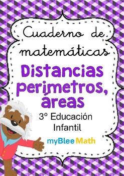 Distancias, perímetros, áreas - 3° Educación Infantil