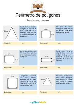 Distancias, perímetros, áreas - 6° Primaria