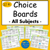 Choice Board Suitable for Distant Learning Set of 6 All Su