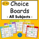 Choice Boards Suitable for Distant Learning Math and Language