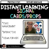 Distant Learning Signal Cards Props