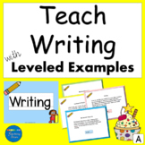 Writing in Kindergarten Primary with Leveled Writing Examp