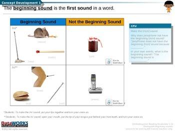 Distinguish Beginning Sounds - M N  L  R