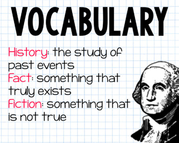 Distinguish Between Historical Fact and Fiction First Grade History
