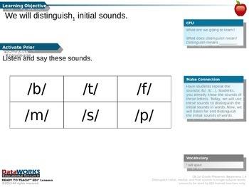 Distinguish Initial Sounds - B  T  F  M  S  P