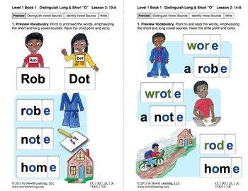 "Distinguish Long & Short ""O"": Lesson 2, Book 1 (Newitt Gra"