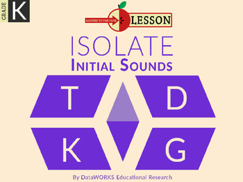Isolate Initial Sounds - T  D  K  G