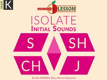 Distinguish Beginning Sounds - S SH CH J
