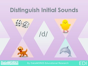 Distinguish Initial Sounds - D  G  H  J  K  L