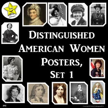 Distinguished American Women Posters, Set 1