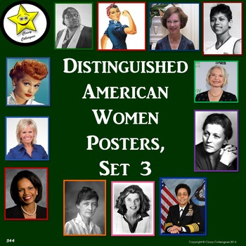 Distinguished American Women Posters, Set 3
