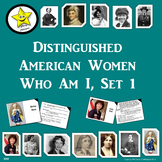 Distinguished American Women Who Am I, Set 1