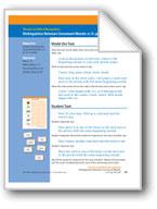 Distinguishes Between Consonant Blends: cr, fr, gr, dr, tr, br (assessment)