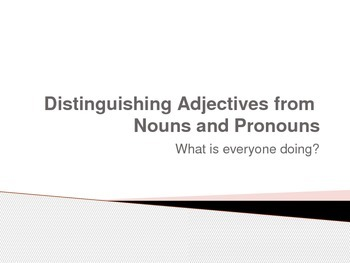 Distinguishing Adjectives from Nouns and Pronouns Power Point