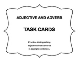 Distinguishing Adverbs from Adjectives Task Cards