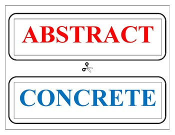 Distinguishing Between Abstract & Concrete Nouns Handout