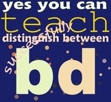Distinguishing Between Lowercase B and D