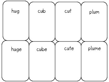 Distinguishing CVC and CVCe Vowel Pattern Card Games