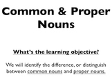Distinguishing Common and Proper Nouns