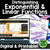 Exponential and Linear Functions Card Sort Activity