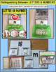 """Distinguishing LETTERS and NUMBERS Task Cards """"Task Box Filler"""" for Autism"""