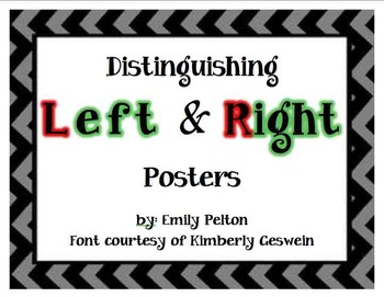 Distinguishing Left and Right Posters (a.k.a., Stop Confusing Right and Left!)