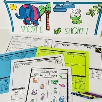 Distinguishing Short e & Short i > Elephant and Inch worm!