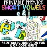 Short e vs. Short i Vowels > Activities with Elephant and Inch worm!