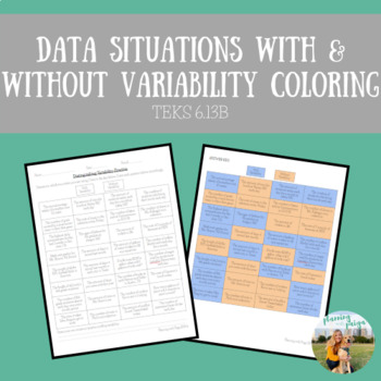 Distinguishing between Situations with & without Variability