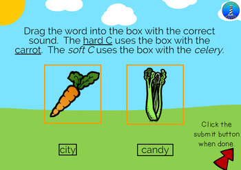 Distinguishing the Soft and Hard C Sounds: BOOM Digital Task Cards