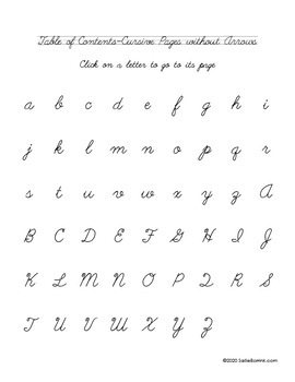 Distraction Free Handwriting Practice - Cursive Upper & Lower Case with Arrows