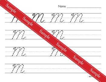 Distraction Free Handwriting Practice - Print & Cursive Letters Bundle w/Arrows