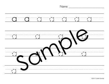 Distraction Free Handwriting Practice - Print & Cursive Letters Bundle w/o Arrow