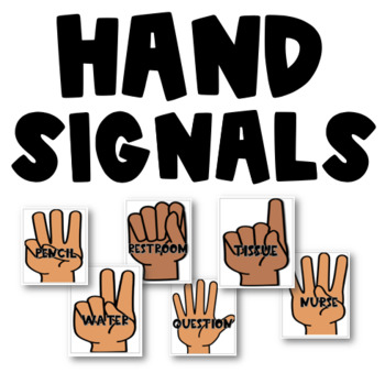 Distraction eliminating classroom hand signals