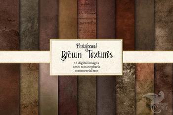 Distressed Brown Textures digital paper