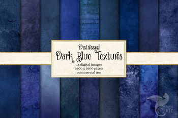 Distressed Dark Blue Textures digital paper