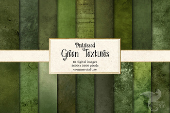 Distressed Green Textures, printable digital paper