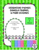 Distressed Papers, Doodle Frames (Oval, Rectangle) & Page