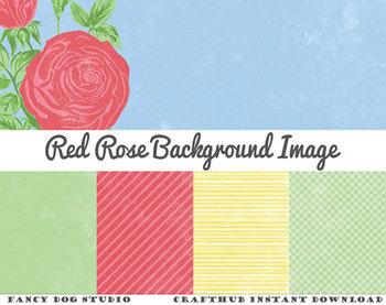 Digital Paper - Distressed Rose