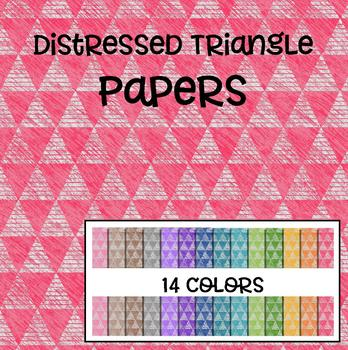 Distressed Triangle Papers - 14 Colors!