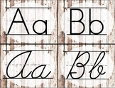Distressed White Wood Alphabet Cards / Banner / Posters (P