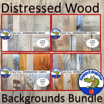 Distressed Wood Background BUNDLE