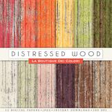 Distressed Wood Digital Paper, scrapbook backgrounds
