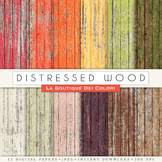 Distressed Wood Digital Paper, scrapbook backgrounds
