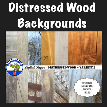 Distressed Wood - Rustic Wood Digital Paper Backgrounds for Shabby Chic - Set 2