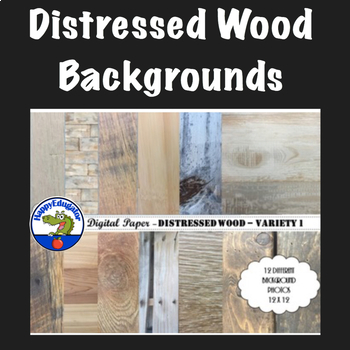 Distressed Wood - Rustic Wood Digital Paper Backgrounds for Shabby Chic - Set 1