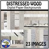 Distressed Wood - Whitewashed Shiplap Digital Paper Backgr