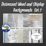 Distressed Wood Whitewashed Shiplap Digital Paper Backgrounds Shabby Chic Set 2