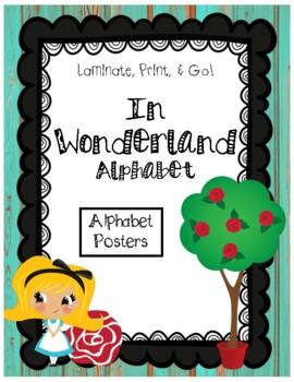 Distressed Wood & Wonderland Alphabet Posters