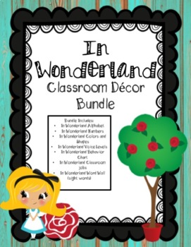 Distressed Wood & Wonderland Bundle - Classroom Decor